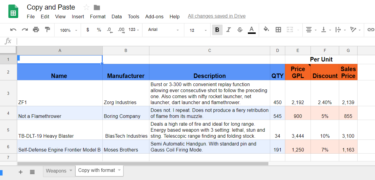Copy with format and column width in Google Sheets