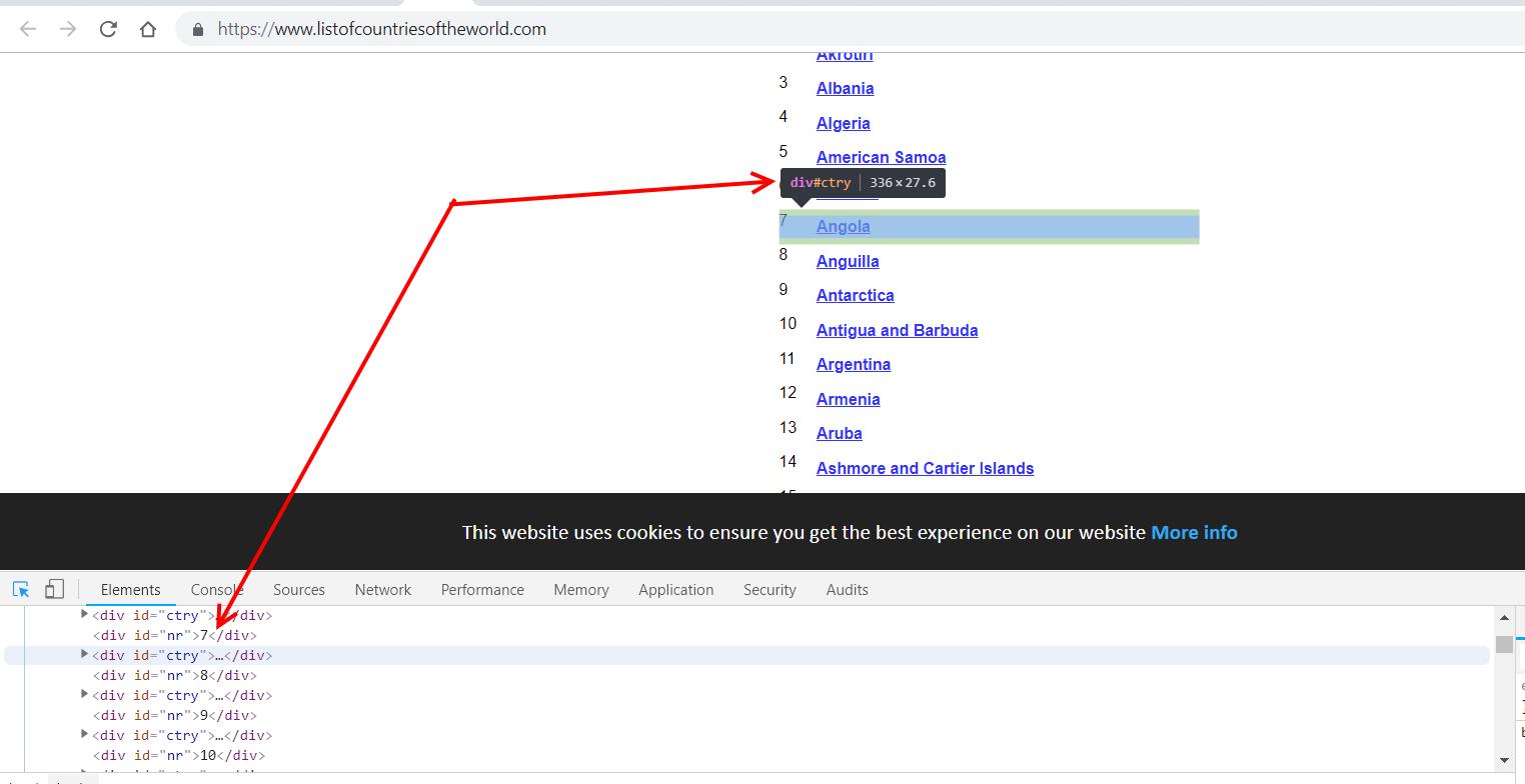 Chrome Dev Dashboard Element Inspection