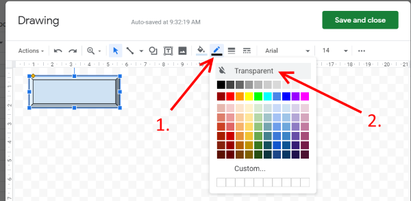 Google Sheets bevel shape 3