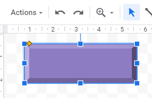 Google Sheets bevel shape 4 button