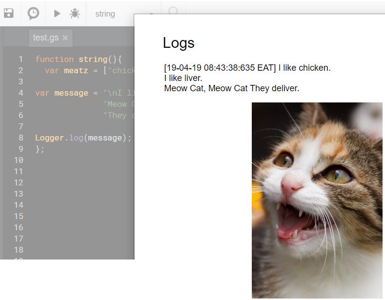 Google Apps Script: Basic Beginners Guide to Using Strings in Code