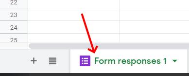 Form Response Tab Google Sheets