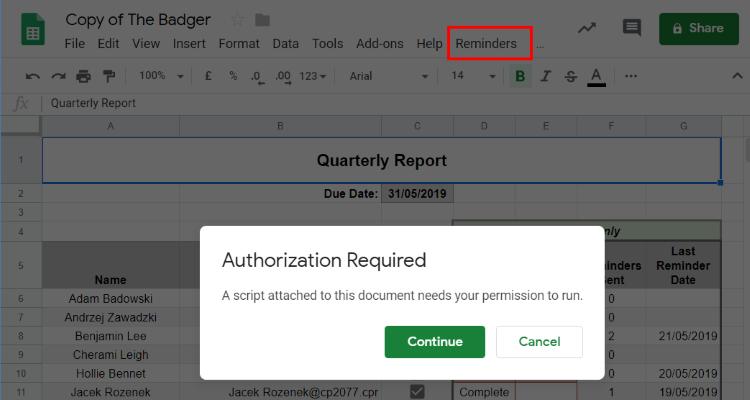 Google Sheet Script authorization