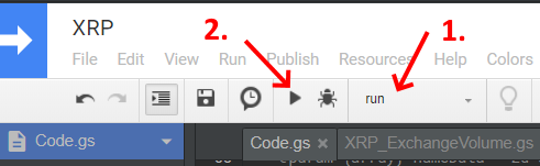 run a script in the Google Apps Script editor