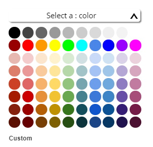 Google Color array picker