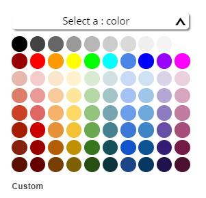 Google Color array picker