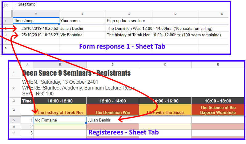 Form response filter for Google Sheets