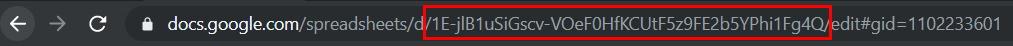 Spreadsheet ID in URL