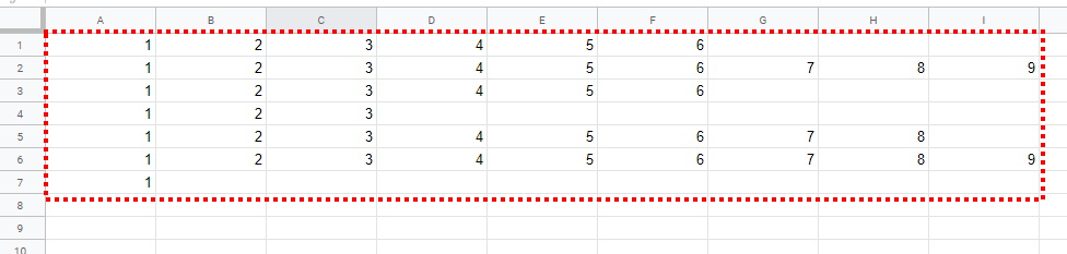 paste values google Sheet with extra row data